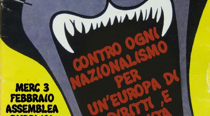 Contro ogni nazionalismo, per un'Europa di diritti e dignità